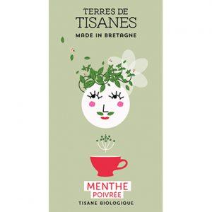Tisane bio Menthe poivrée producteur Terres de Tisanes.